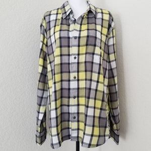 Aeropostale plaid button down shirt size XL